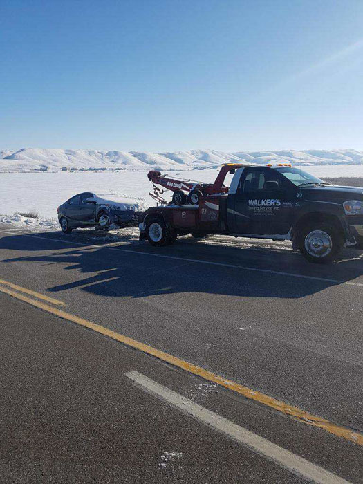Towing car out of snow