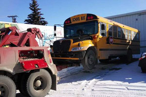 School bus towing